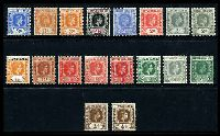 Lot 22457:1938-51 Definitives SG #95-108 ½d to 3d including all shades and papers excl 1d scarlet Die B & 2½d bright blue, Cat £60+. (18)