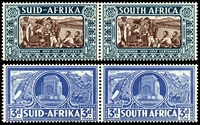 Lot 4168 [2 of 2]:1938 Voortrekker Memorial Fund SG #76-9 set of 4 in pairs, Cat £55.
