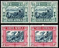 Lot 4168 [1 of 2]:1938 Voortrekker Memorial Fund SG #76-9 set of 4 in pairs, Cat £55.