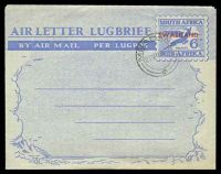 Lot 28379:1951-52 Bi-Lingual Springbok HG #FG12 6d 'SOUTH...' first, CTO with double-circle 'MBABANE/21VIIIA52' (A1-).