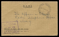 Lot 26621:1959 stampless P&T Dept cover, Port Moresby cds & boxed 'TELEPHONE/ACCOUNTS SECTION/...' date-stamp in violet.