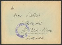 Lot 22255:1940s stampless cover to Australia, violet double-circle 'AMERICAN JOINT DISTRIBUTION COMMITTEE