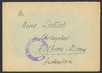 Lot 3961:1940s stampless cover to Australia, violet double-circle 'AMERICAN JOINT DISTRIBUTION COMMITTEE