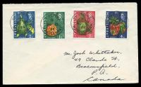Lot 25826:St. Peters: 'ST.PETERS/*/AU13/66/MONTSERRAT' on 1c, 2c, 3c & 4c fruit to Canada.