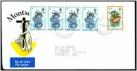 Lot 25822:1982 use of O.H.M.S. optd 5c x4 & 45c fish on air cover to Australia.