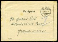 Lot 22366:1942 use of Feldpost lettersheet, cancelled with 'SULZBERG/7XII42/b' (B1), to FPO L13591 (probably Minsk, Russia).