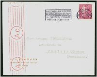 Lot 19996:1943(C.) use of 1f50 Leopold from Gent to Freiberg, Germany, fine red roller 'A.c.' censor at left (applied at Cologne).