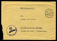 Lot 3990:1941 use of stampless cover, cancelled with void '/17.2.41.3-4N' (B1), from FPO L03171 (Eastern France or Belgium - part of bombing campaign against England), FPO L03171 handstamp in BLC.