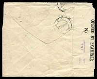 Lot 24196 [2 of 2]:1944 use of 20c (obliterated by pen), cancelled with Nairobi machine of 23AUG/1944, to Major in Mogadishu, double-circle 'E.A./23VIB44/[APO]