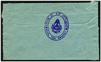 Lot 28414 [2 of 2]:1968 (C) use of uncancelled cover to England, violet double-oval 'OFFICE OF AIR ATTACHE/ROYAL THAI EMBASSY' (A1+).