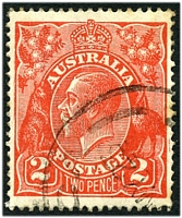 Lot 2204:2d Red Die I - BW #96(12A)j [12AR54] Recut right 2, Cat $200.
