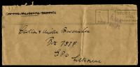 Lot 874:1940s Long stampless cover to Melbourne, cancelled with 'PAID - DEFENCE FOR[CES]/MAIL/NO POSTAGE REQUI[RED]