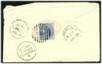 Lot 24219:Ajmere: 'M.A./AJMERE./JUL.18' on cover to Bombay, ½a cancelled with 'R.M.S' (A1), transit of 'BOMBAY.S.W./6.DY/JUL.19' (A2).