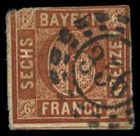 Lot 19985:356: open mill-wheel of Unterbruck, on 1850 6k red-brown.