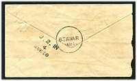 Lot 3772 [1 of 2]:Rajpootana TPO: unframed 'J.2.IN/4/MAR:20' on ½a Envelope cancelled with 'T' (A2), 'BEAWAR/MAR21' (B1) arrival.