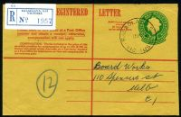 Lot 13383 [1 of 2]:Balaclava: - 'BALACLAVA S.16./11MY66/VIC·AUST' (#100A - arcs 1,1½) on 24c Registration Envelope. [Rated 3R]  PO 5/7/1909.
