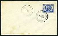 Lot 4301:1947 P.I.C.A.O. 'P.I.C.A.O/5FE47/MELBOURNE·AUST' on 3½d Mitchell on unaddressed cover