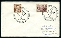 Lot 576:1965 International Crystallographic Meeting 2 strikes of 16AUG1965 on 2d & Cocos 3d on addressed cover.