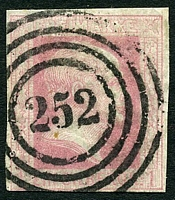 Lot 3981:252: 4-rings, of Coblenz, on 2-margins 1sgr rose.