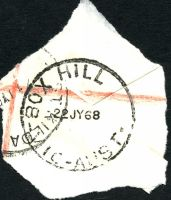 Lot 2400:Box Hill: - WWW #90C 'BOX HILL     /22JY68/VIC-AUST' (arcs 2½,2). [Rated 4R]  PO 1/2/1861; replaced by Box Hill Business Centre BC c.-/10/1991.
