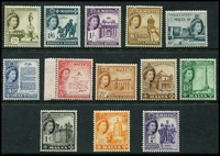 Lot 4390:1956-58 QEII Pictorials SG #266-78 set to 2/-, Cat £30+. (13)