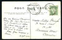 Lot 26400 [1 of 2]:1906 use of ½d Mt Cook (a second ½d appears to have fallen off) on PPC of 'Pipiriki, Wanganui River.' (curiously the words NEW ZEALAND and POST appear to have been crossed out by the writer), poor 'TO PAY/1d/DOUBLE DEFICIENT POSTAGE' handstamp on face.