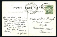 Lot 4198 [1 of 2]:1906 use of ½d Mt Cook (a second ½d appears to have fallen off) on PPC of 'Pipiriki, Wanganui River.' (curiously the words NEW ZEALAND and POST appear to have been crossed out by the writer), poor 'TO PAY/1d/DOUBLE DEFICIENT POSTAGE' handstamp on face.