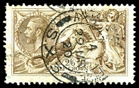 Lot 3727:Constantinople: 2/6d Seahorse, SG #Z185 Cat £35, cancelled with double-circle 'ARMY POST OFFICE