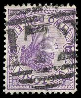 Lot 10504:172: 2nd type on 2d violet.  Allocated to Baringhup-PO 12/2/1858; closed 31/12/1974.