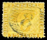 Lot 18343:8: on 2d yellow.  Allocated to Fremantle-PO 4/12/1829.