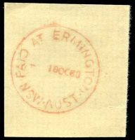 Lot 1253:Ermington (2): - red 'PAID AT ERMINGTON/  18OC60/NSW-AUST' (Price? turned off) on piece.  PO 3/9/1956.