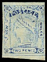 Lot 881:1888 Van Dyke Reprints 2d blue Laureate Plate II [Pos 49]