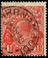 Lot 2512 [2 of 2]:1½d Red Die II - rejoined pair [2L49-50], unit 50 with Split in right angle of top frame etc