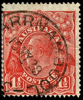 Lot 793 [2 of 2]:1½d Red Die II - rejoined pair [2L49-50], unit 50 with Split in right angle of top frame etc