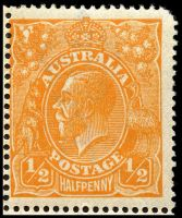 Lot 212 [2 of 3]:½d Orange - BW #66(8)e,f block of 4 [8L1-2,7-8], unit 2 with Eight wattles at left & unit 7 with Cut in right wattles, Cat $70++, couple of short perfs