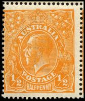 Lot 212 [3 of 3]:½d Orange - BW #66(8)e,f block of 4 [8L1-2,7-8], unit 2 with Eight wattles at left & unit 7 with Cut in right wattles, Cat $70++, couple of short perfs