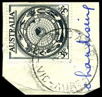 Lot 2583:Maindample: - WWW #40A 'MAINDAMPLE/?/VIC-AUST' on 3½d AAT. [Rated 3P - poor cancels are normal.]  PO 19/9/1868; closed 31/1/1989.