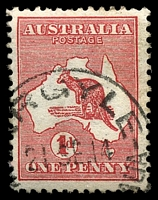 Lot 2983:Argyle: - '[A]RGYLE/21SE14/[WESTN AUSTR]ALIA' (#D27 LRD) on 1d Roo.  RO 1/6/1909; PO 8/10/1910; closed 12/12/1975.