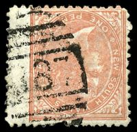 Lot 5433:887: BN on 1d salmon.  Allocated to Darlington Point-RO 1/11/1876; PO 16/7/1877.