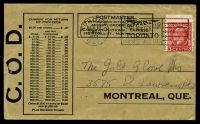 Lot 18516 [1 of 2]:1933 use of 3c red KGV on Canadian National Express COD cover.