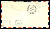 Lot 4532 [2 of 2]:1938 use of 1c Franklin, 5c Roosevelt & 10c Special Delivery, cancelled with 'OMAHA. NEBR./JUN4/7PM/1938/AIR MAIL FIELD - RMS' duplex (B1) on air cover to Chicago, straight-line 'Fee Claimed at Chicago Ill.' (B1).