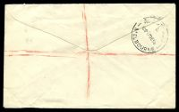 Lot 2616 [2 of 2]:Moorleigh: - WWW #10A 'MOORLEIGH S.E.13/?DE56/VIC-AUST' on 4d & 7½d Olympics pair on registered cover with blue registration label. [Rated 3P]  PO 22/3/1954; closed 31/10/1988.