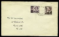 Lot 995:Ben Bullen: 'BEN BULL[EN]/14AU52/N.S.W' on 1d & 2½d on cover.  RO 10/8/1885; PO 1/11/1889; closed 6/3/1965.