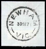 Lot 2632:Newham: - WWW #20B 'NEWHAM/30SE71/VIC.' (last day). [Rated 4P]  PO 16/9/1861; closed 30/9/1971.