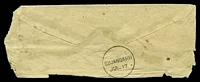 Lot 3887 [2 of 2]:Sirajganj: type 17a duplex 'SIRAJGANJ/JUL1? - 3/C-4?' on ½a blue on small cover, 'SUJANGARH/JUL.17' (A1) backstamp.