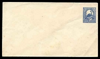 Lot 705:1888 Centenary HG #B5 2d Emu on laid paper size a, flap sealed.