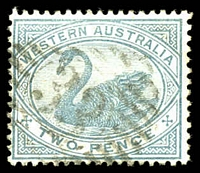 Lot 3413:33: on 2d grey.  Allocated to Jarrahdale-TO 11/2/1880; PO c.-/9/1882.
