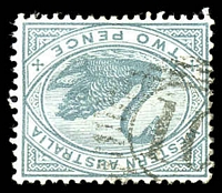 Lot 15571:10: '10' on 2d grey.  Allocated to Bridgetown-Renamed from Geejelup PO c.-/2/1872.