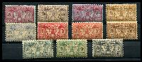 Lot 23409:1925 Both Currencies SG #F42-52 set of 11, Cat £17, gum generally tropicalised.