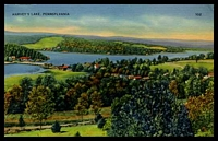 Lot 4283 [2 of 2]:Alderton: 'ALDERTON/JUL/2/P.M./1942/PA.' on 1c green on Ramsay Mebane coloured PPC of 'HARVEY'S LAKE, PENNSYLVANIA'.  Closed 1949
